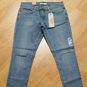 NEW Levis 524 Skinny 29x32 Women Blue Jeans